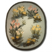 Flower Oval Daffodils & Tulips 5ft. x 7ft.