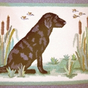 Labrador in Cattails # 1826A