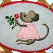 Mouse With Rose #2605