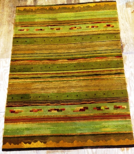 Mid Century modern rug. Made at The Ruggery in 1959